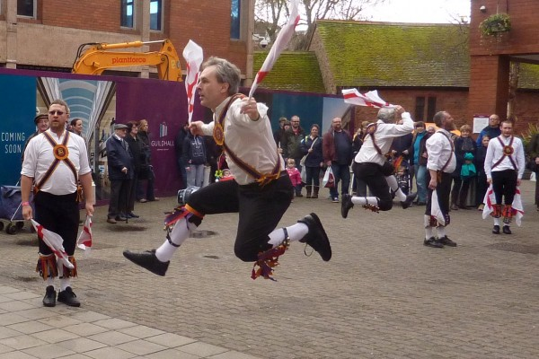 Brighton Morris Men jumping