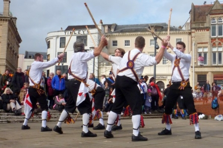 Brighton Morris at Exeter Cathedral