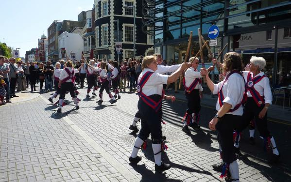 Ditching Morris dancing in Brighton 2015