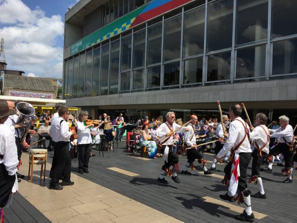 Morris dancing at Southbank,London