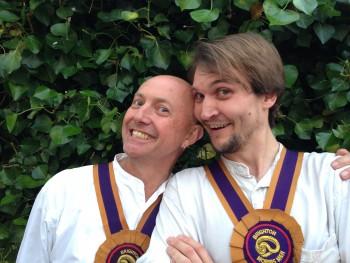 Two Brighton Morris Men smiling