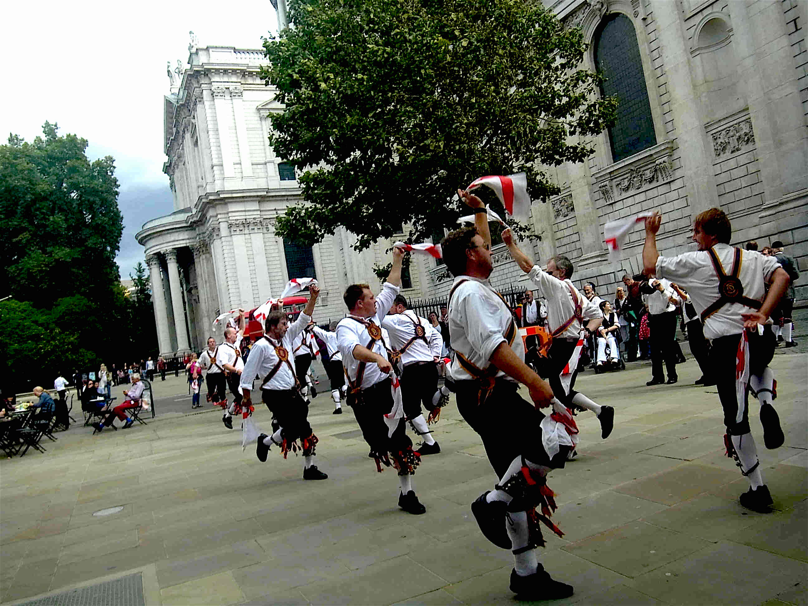 Morris dancing at St Paul's cathedral