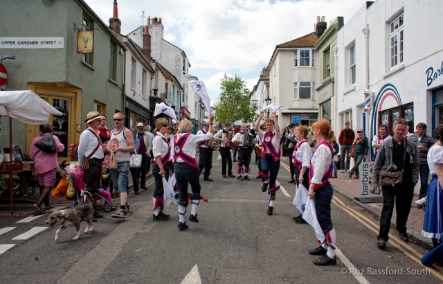 Ditching Morris Men dancing in Brighton