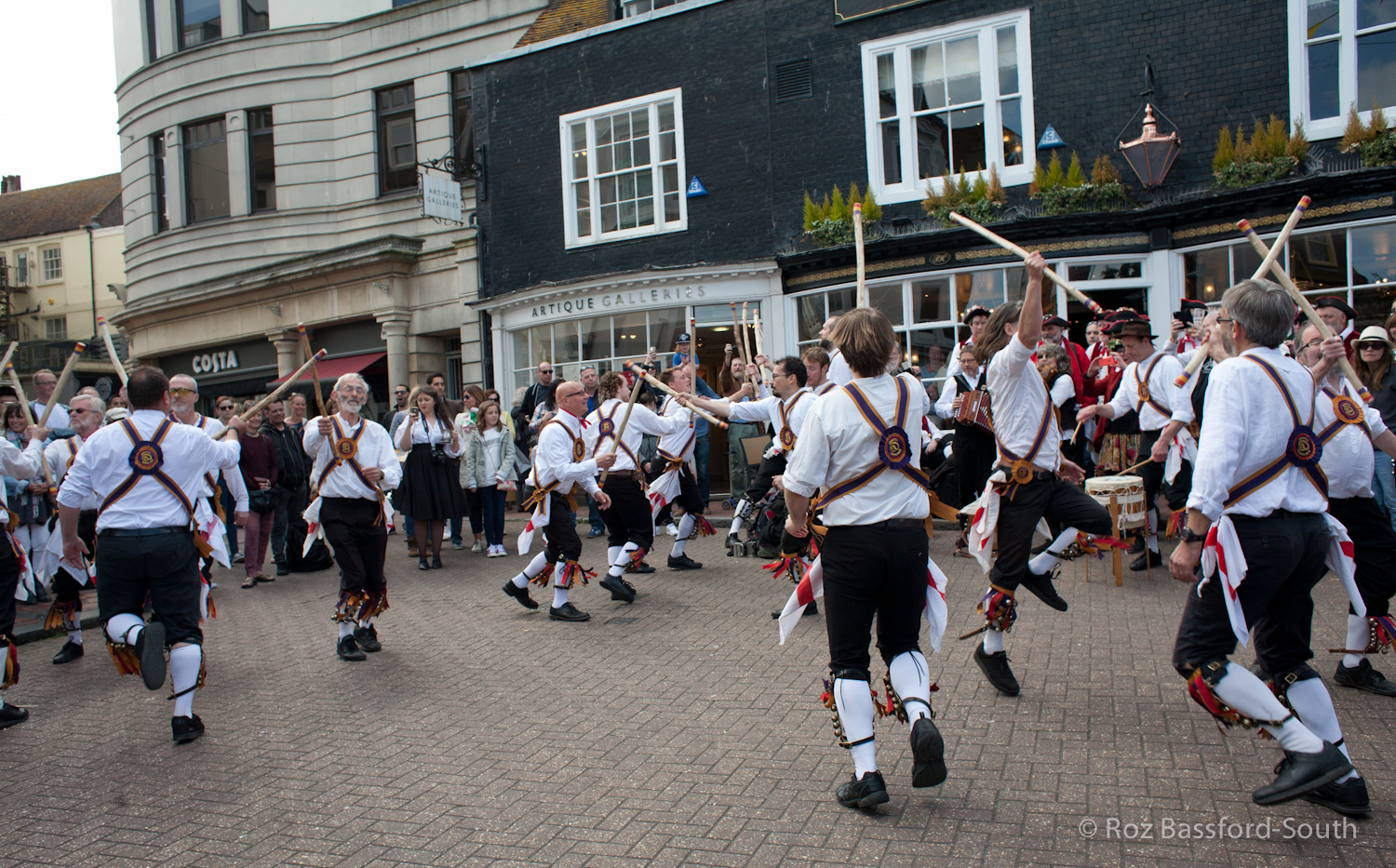 Brighton Morris with sticks, Pump House, Brighton