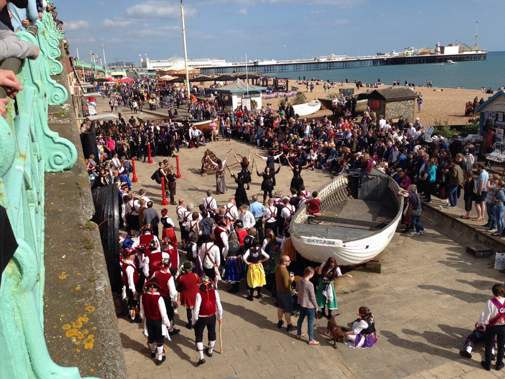 Brighton Morris Day of Dance 2016, Steampunk dancing on the seafront