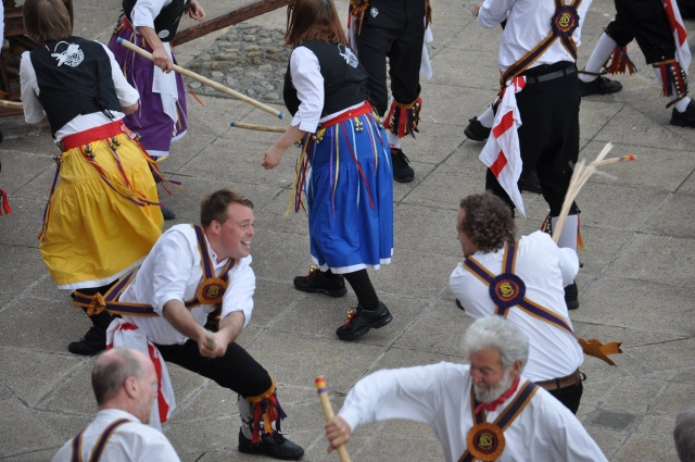 Brighton morris men breaking sticks