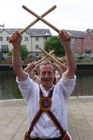 Exeter, dancing De Montfort's Stand