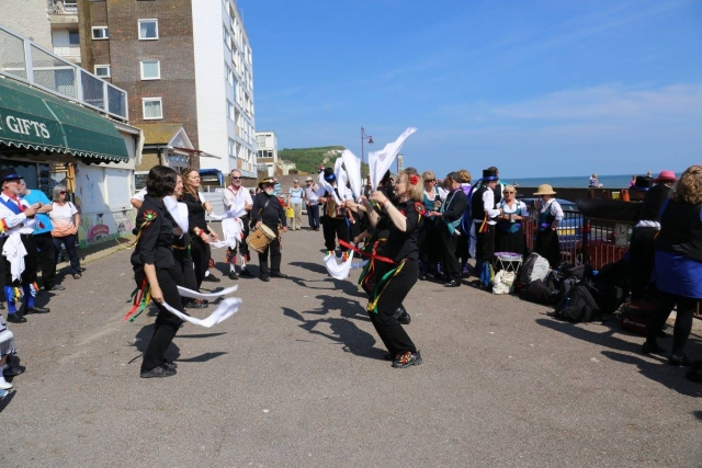 Glory of the West dancing Seaton seafront