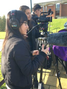Student film crew at University of Sussex
