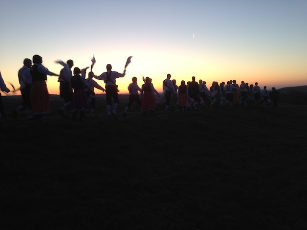 Morris dancers at dawn