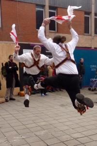 Brighton Morris Men jumping