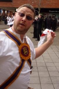 Closeup of Brighton Morris dancer
