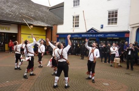 Brighton Morris Men throwing sticks