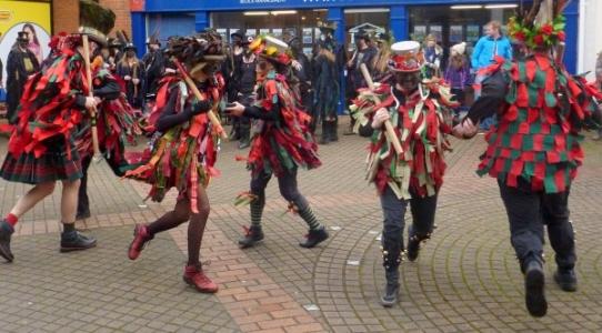 Fox Morris dancing in Exeter