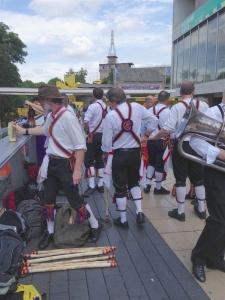 Brighton Morris men preparing to dance