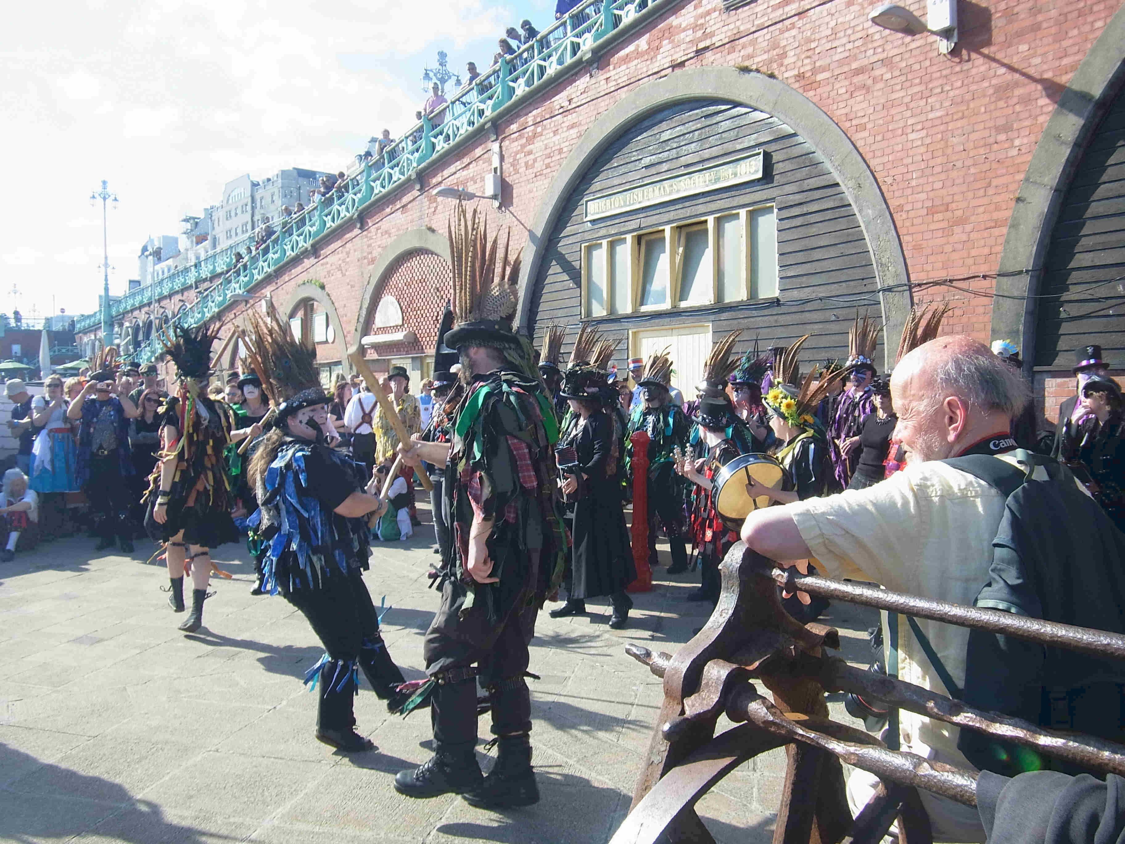 Morris dancing on Brighton seafront 2015
