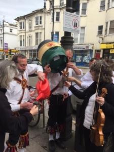 Brighton Morris Men with a barrel