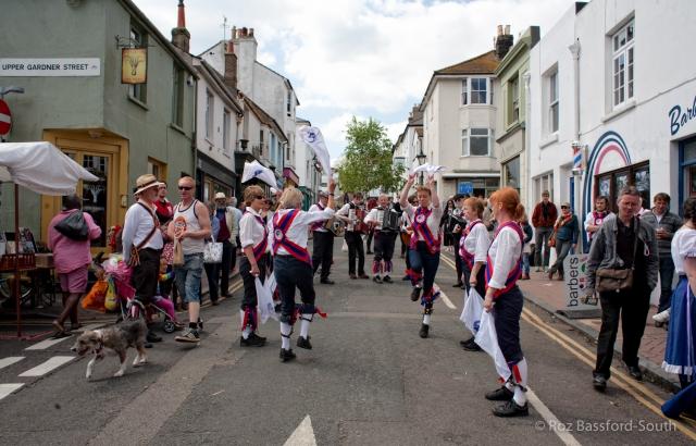Ditching Morris Men dancing in Brighton